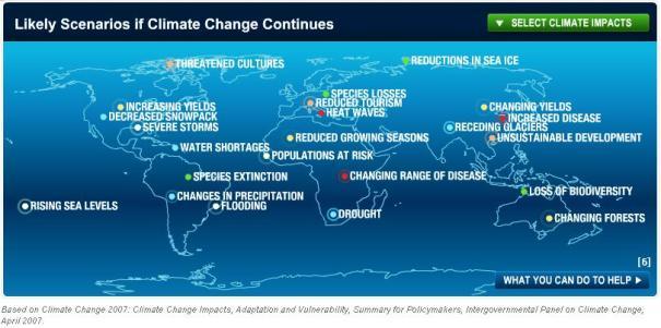 Global Warming Map NationalGeo