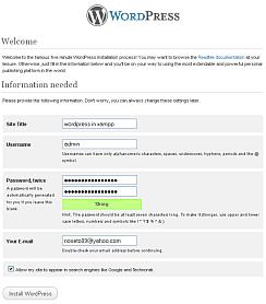 xampp dan wordpress 5