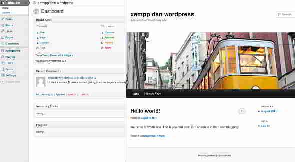 xampp dan wordpress 6