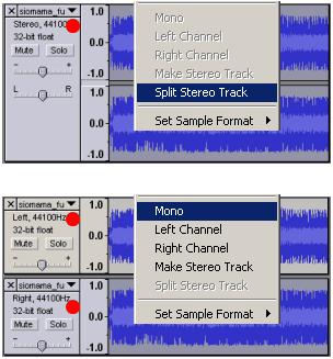 menghilangkan vokal di lagu dengan Audacity