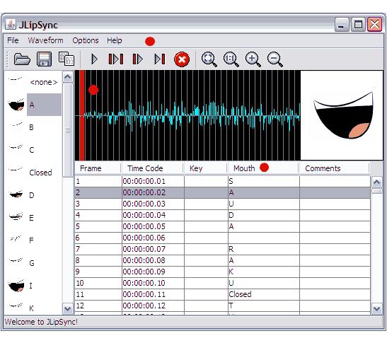 animasi lipsync JLipSync 1