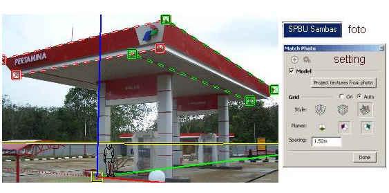 Dari foto '2D' ke gambar '3D' di GoogleSketch