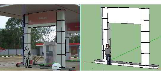 Dari foto 2D ke gambar 3D di GoogleSketch 4