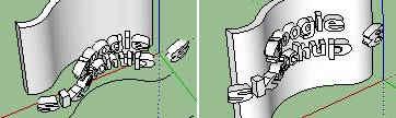 teks SketchUp 3D di permukaan lengkung2
