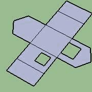 membangun model kertas 3D dengan fitur Reunite Edges dan Add tabs