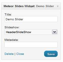 Meteor Slides widget