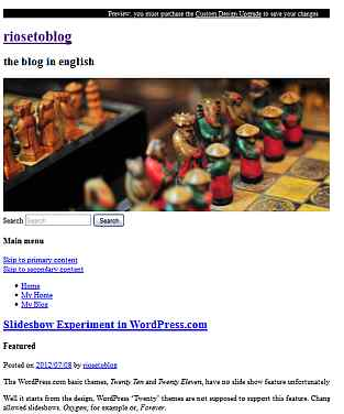Tampilan blog hanya HTML tanpa CSS