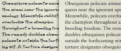 font untuk teks konten
