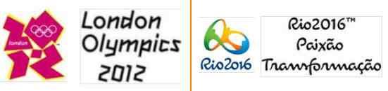 font dan logo olimpiade 2012 dan 2016