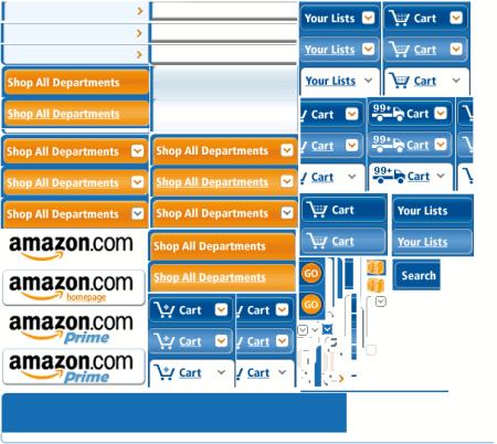 CSS sprite Amazon (contoh)