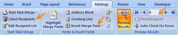 Mailmerge-Word