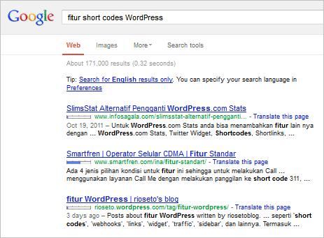wordpress-googlesearch